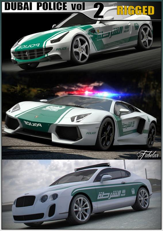 3ds max dubai police cars 2