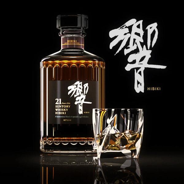 3d model hibiki whisky