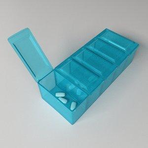 3ds pill organizer box