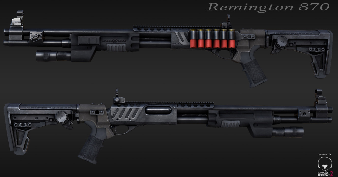 3ds max remington 870