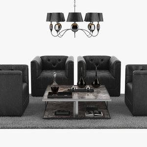 sofa set chair lamp max