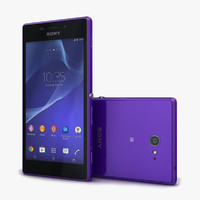 sony xperia m2 purple 3d c4d