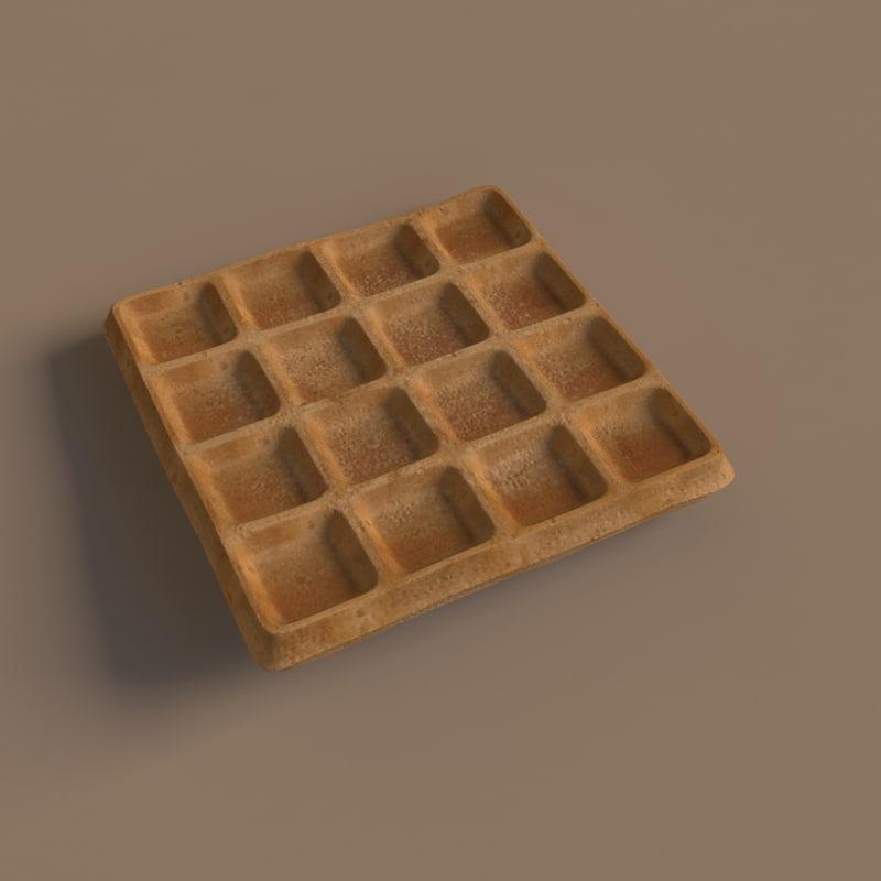 light waffle 3d obj