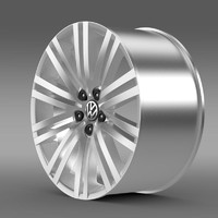 3d model volkswagen polo bluegt rim