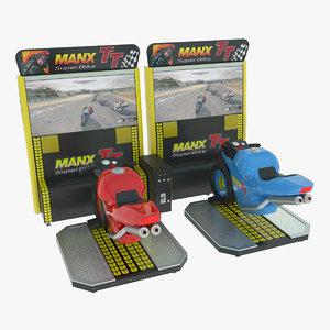 3d model simulator moto racing arcade machine