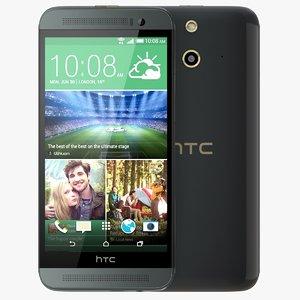 htc e8 black 3d model