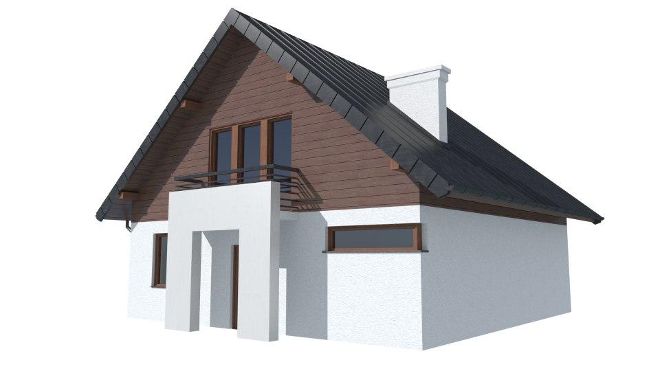 cyprysek house 3d model