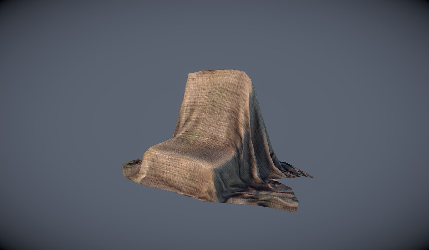 covered chair 3d model