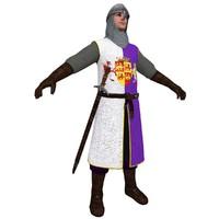 3d medieval knight model