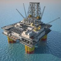 Oil Platform (3ds Max 2013)