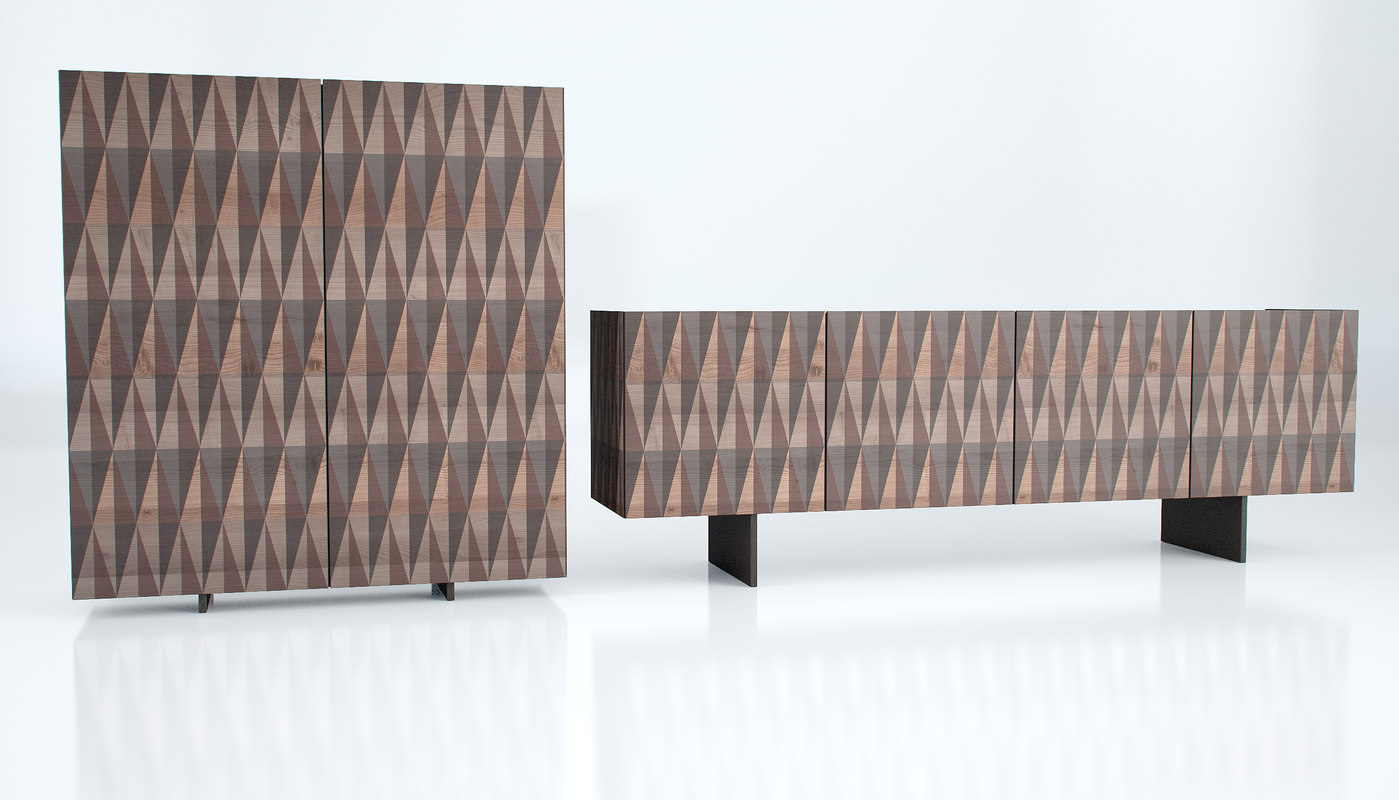 Arabesque sideboard cattelan 3d model for Sideboard 3d
