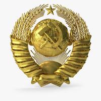 state emblem soviet c4d