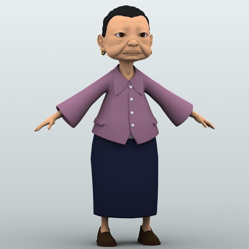 max cartoon grandma