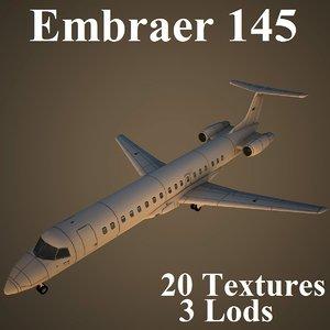 3d model embraer low-poly