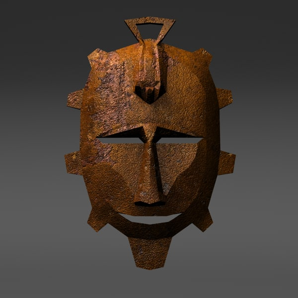 traditional primitivist mask 3d model