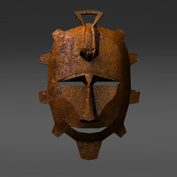 traditional primitivist mask 3d model