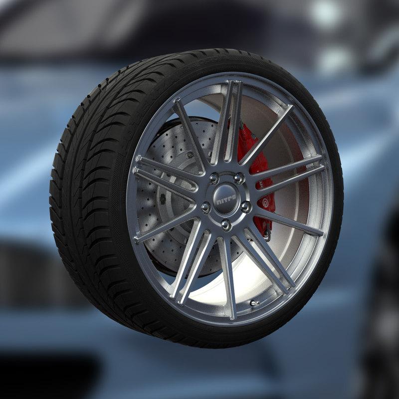 3ds max nitro flame wheel