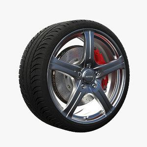 3ds max nitro octane wheel