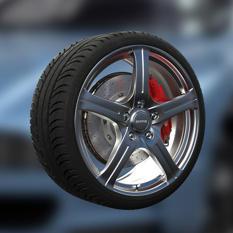 3ds max nitro octane wheel