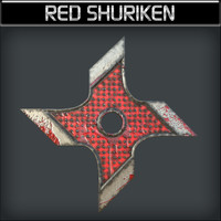 3ds max metallic shuriken red