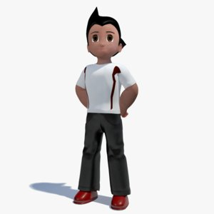 3ds max character astro boy