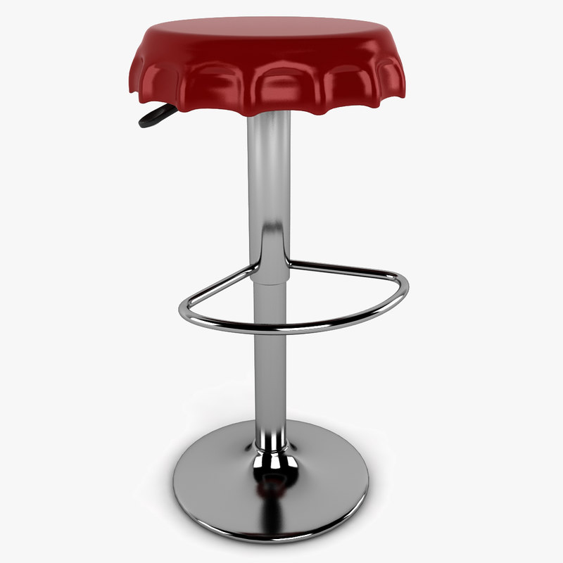 bottle cap stool 3d model