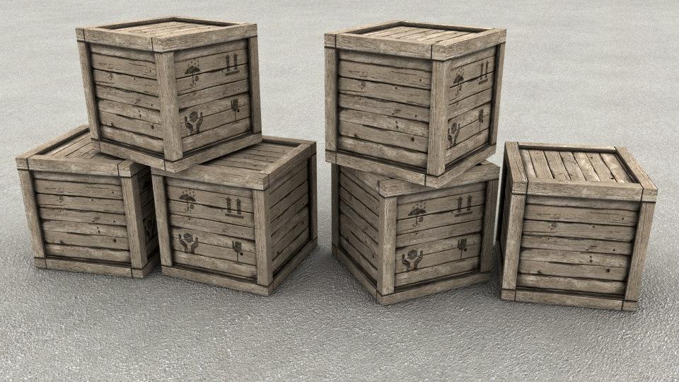wood box 3d ma