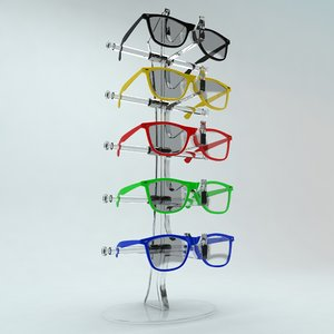 glasses stand 3d model
