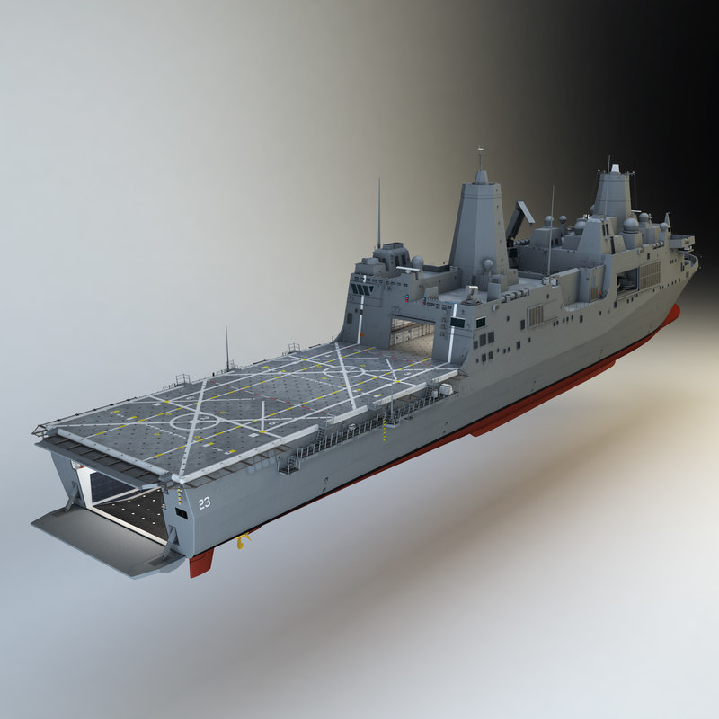 uss anchorage 3d max