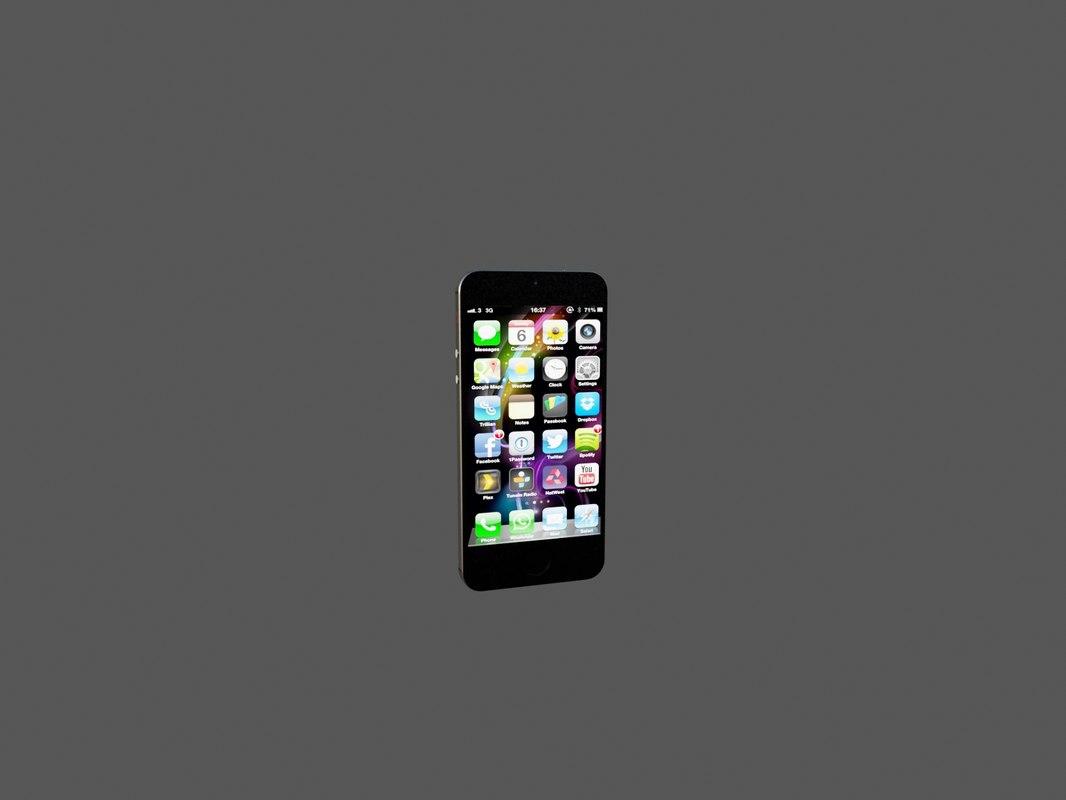 3ds max iphone5 iphone