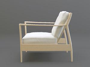 3d model vintage armchair