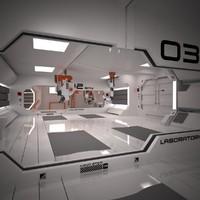 Sci-Fi Interior Corridor