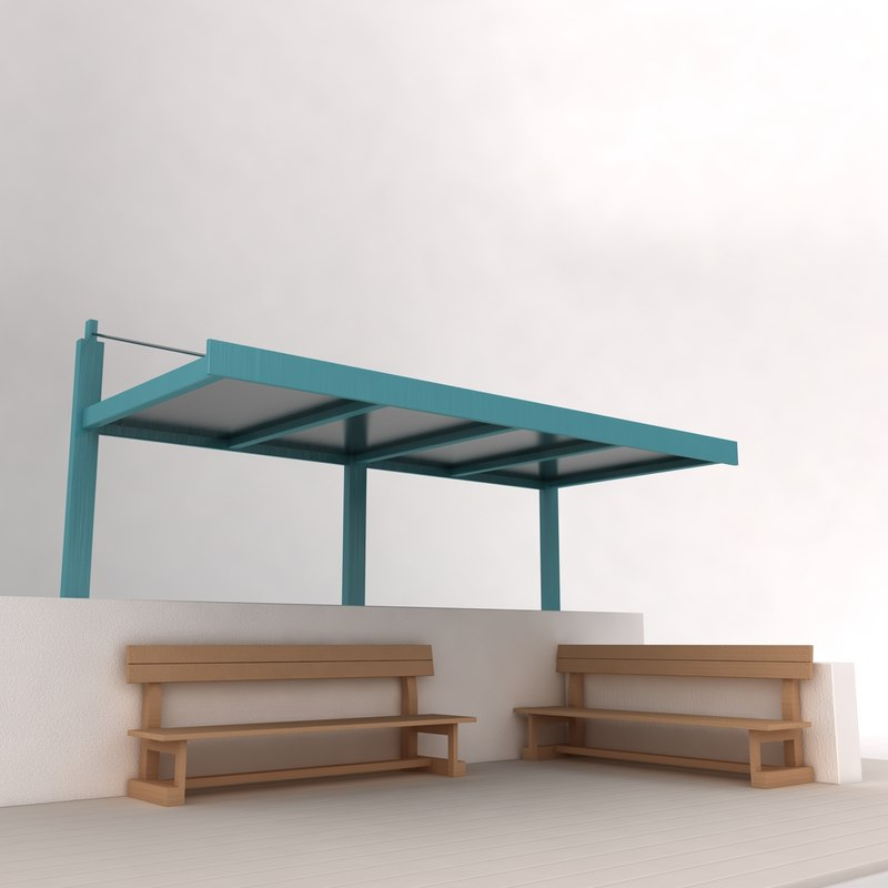 bus stand 3d model