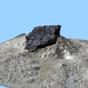 3d 3ds stone rock