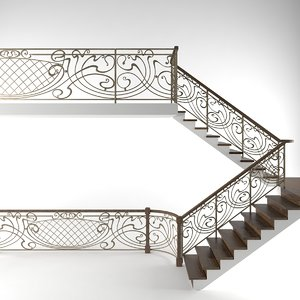 3d railing model