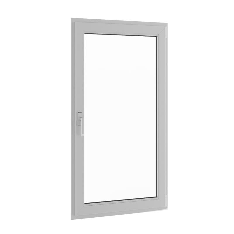 3d openable metal window 910mm model