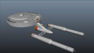 3d model spaceship carrier