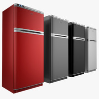 3d refrigerator red model