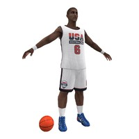usa basketball player ball 3d model