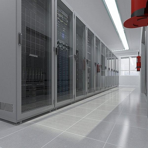 3d model server center