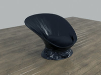 scoop plastic chair melted 3d model