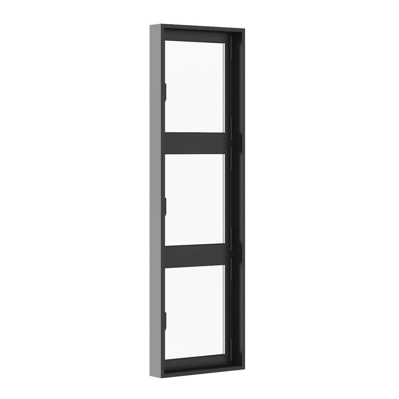 3d model openable black metal window
