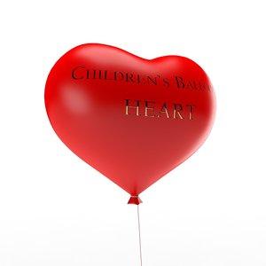 children s balloon form 3d obj