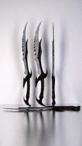 3d daedric sword skyrim model