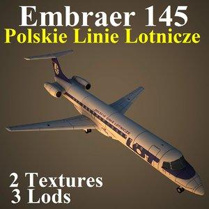 embraer lot 3d model