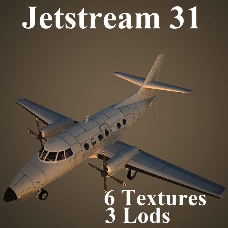 british aerospace 31 3d model