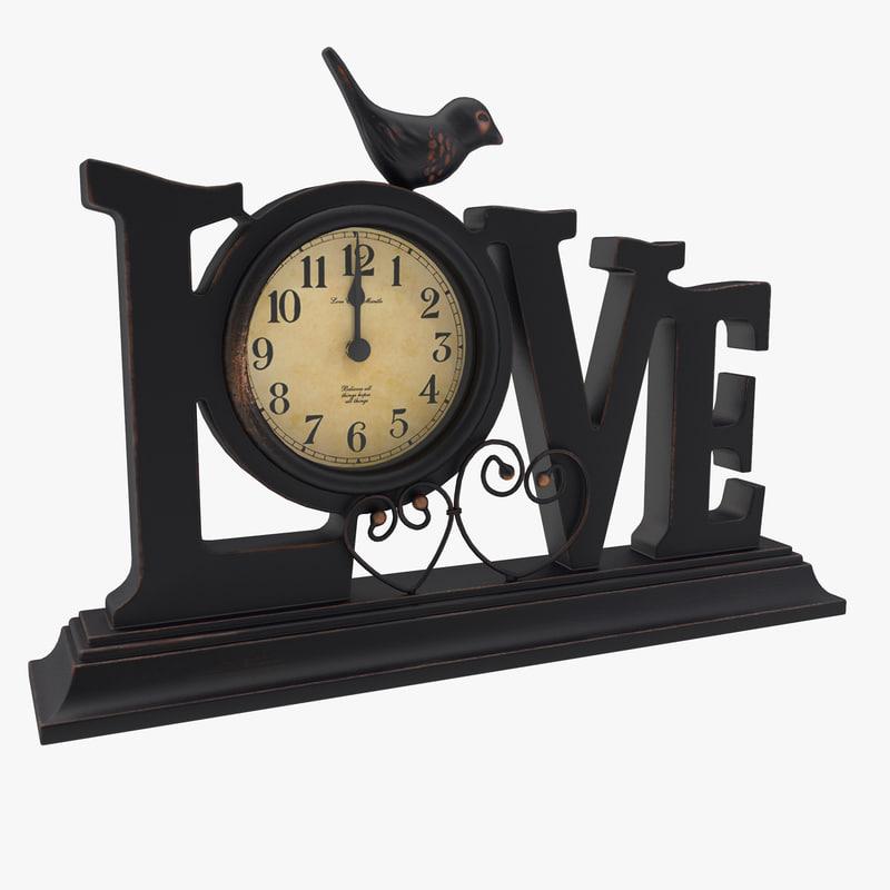 max table clock love