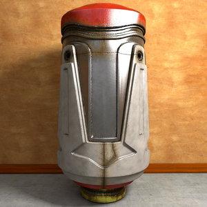 3d battery machine model