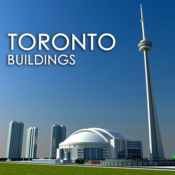 3d toronto buildings