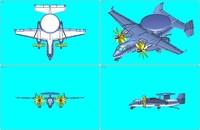 yak-44 rev aew aircraft 3dm